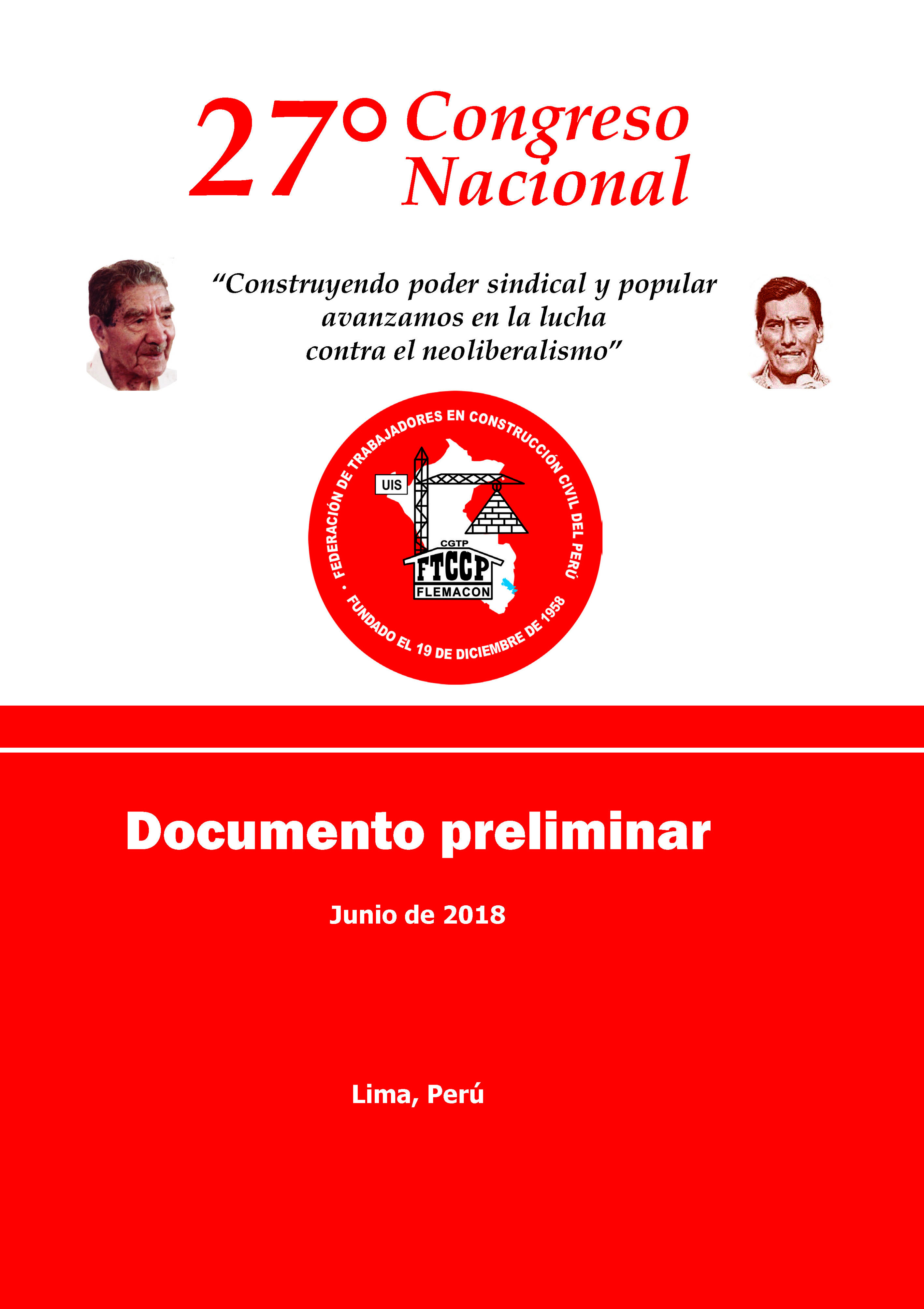 27 Congreso Nacional Ordinario - Documentos